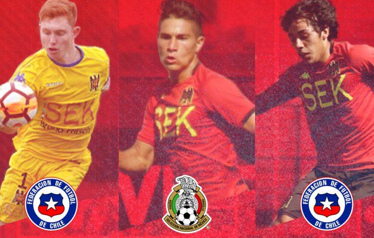 Tres jóvenes hispanos fueron convocados a selecciones Sub 20
